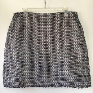 BR Tweed Fringe Mini Skirt
